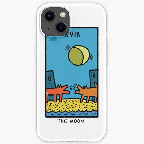 Kieth Haring Moon Tarot iPhone Soft Case