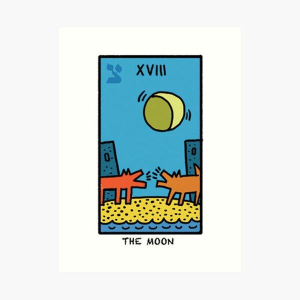Kieth Haring Moon Tarot Art Print