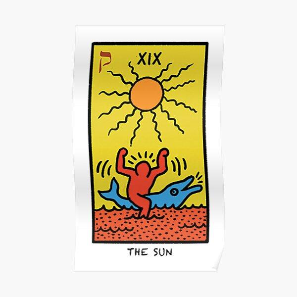 Keith Haring Sun Tarot Poster