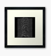 Music band waves - Black&White Framed Print