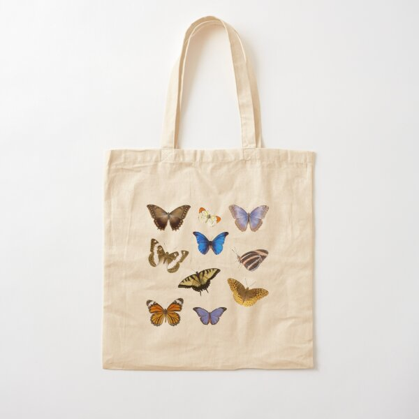 Butterfly pack Cotton Tote Bag