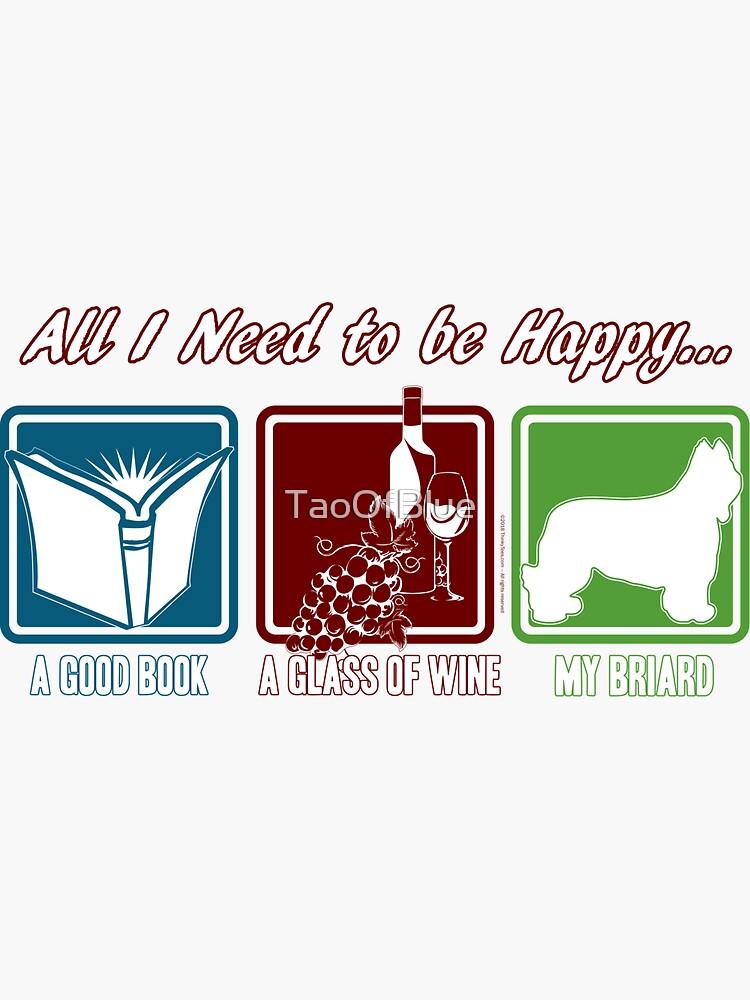Book, Wine, Briard by TaoOfBlue