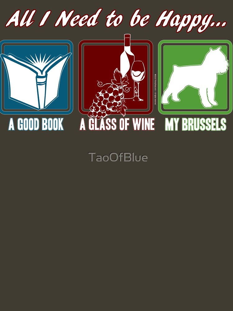 Book, Wine, Brussels Griffon by TaoOfBlue