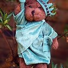 Statue of Liberty Teddy by Bev Pascoe