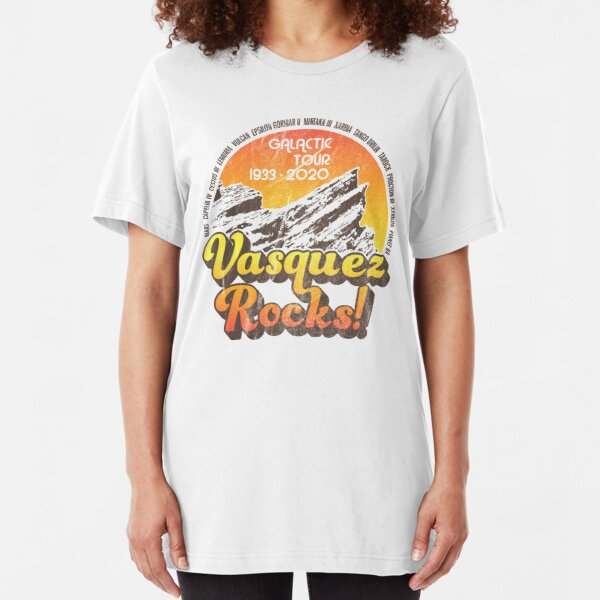 VASQUEZ ROCKS! Pop-Culture themed T-shirt based on the California location that's doubled for sci-fi locations from Cestus III to Capella IV Slim Fit T-Shirt