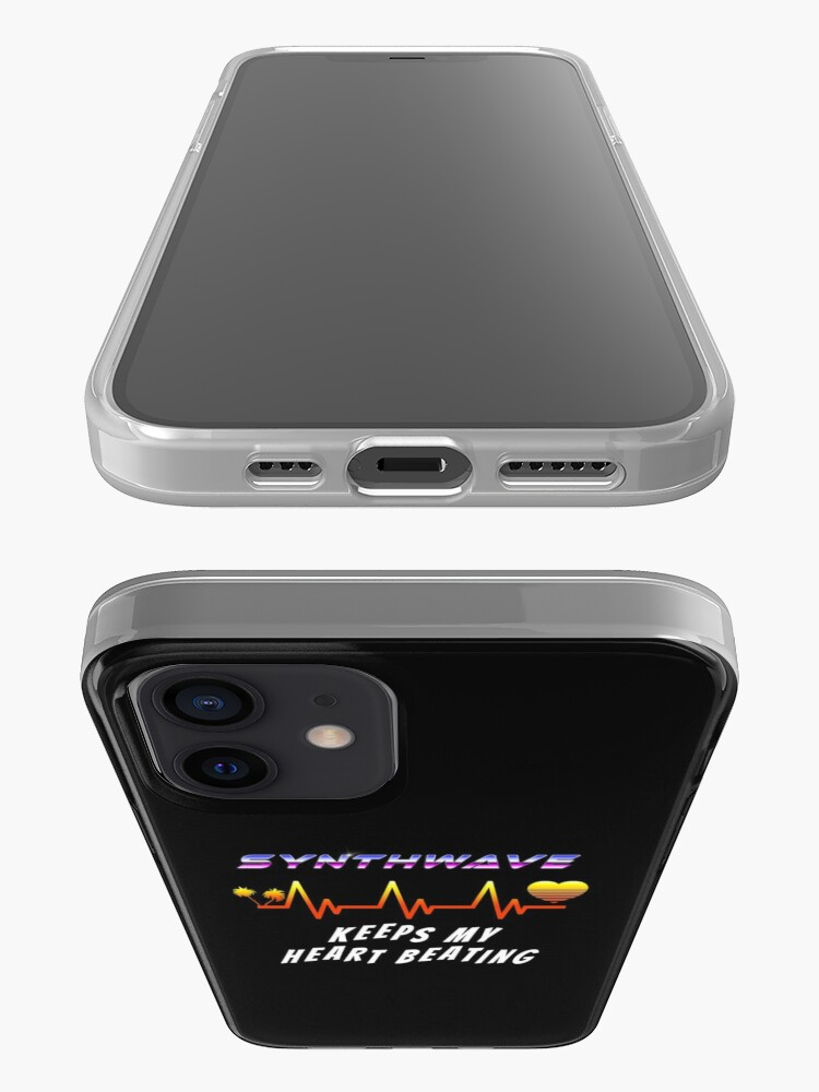 Alternate view of Synthwave keeps my heart beating iPhone Case