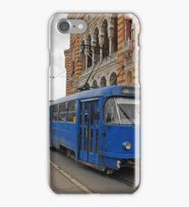 Blue tram iPhone Case/Skin