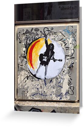 ACDC Poster of Angus Young. ACDC Lane. by John Sharp