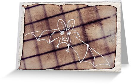 Bat, 2007 - ink on khadi by phoebetodd