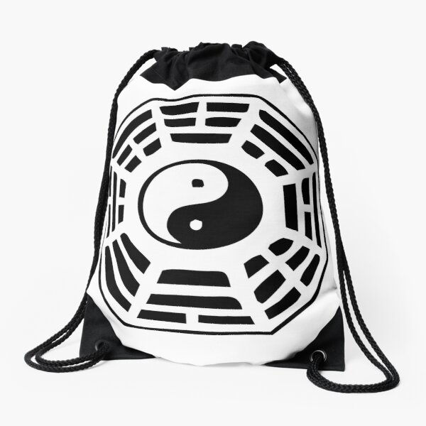 Ba Gua Pa Kua symbol Drawstring Bag