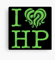 I HEART HP LOVECRAFT Canvas Print