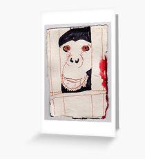 Caged Ape, 2007 - ink on khadi Greeting Card