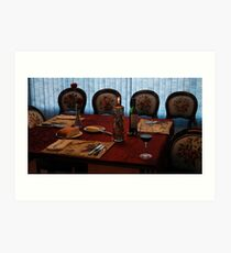 Dinner Table Ready for Guest Art Print