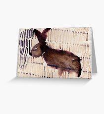 Rabbit, 2007 - ink on khadi Greeting Card