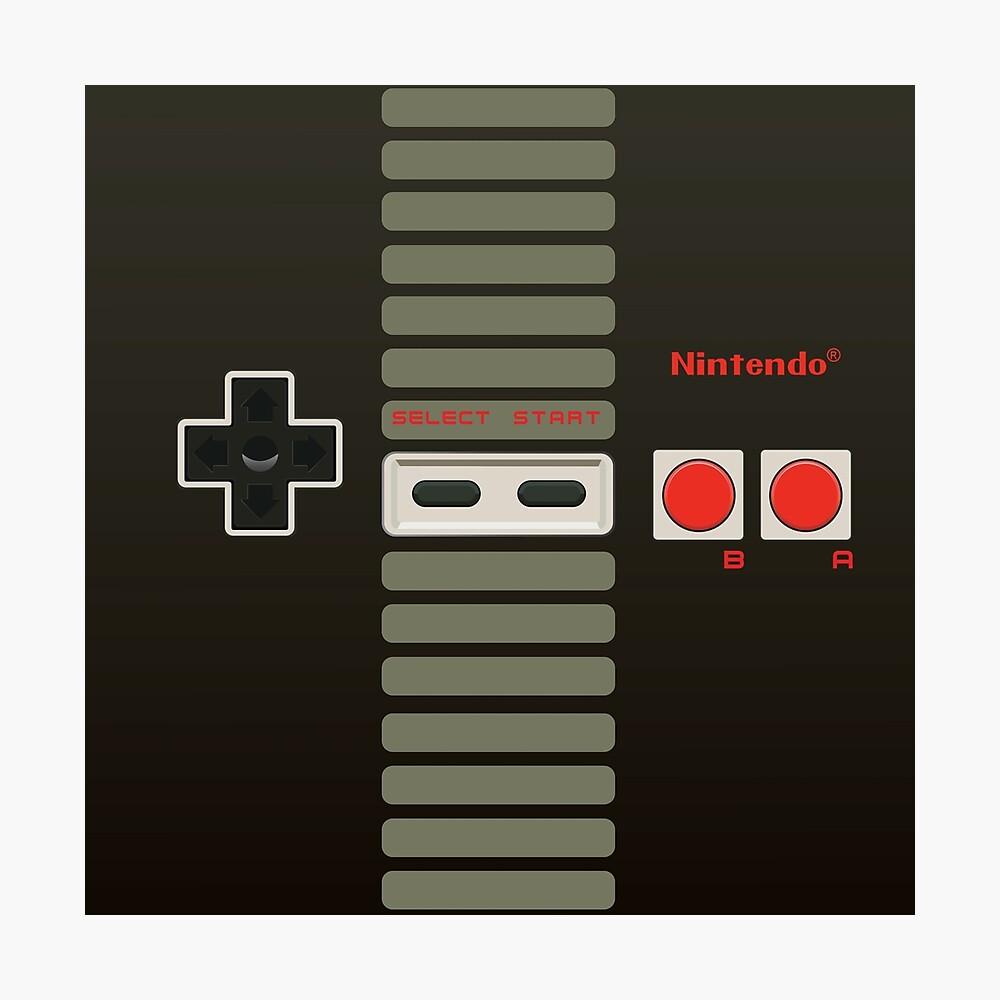 Controlador de Nintendo Lámina fotográfica