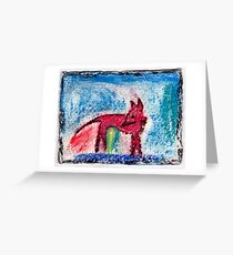 Red Fox, 2007 - pastel on khadi Greeting Card