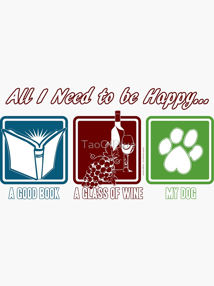 Book, Wine, Dog by TaoOfBlue