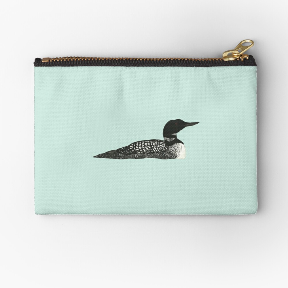 Common Loon Zipper Pouch