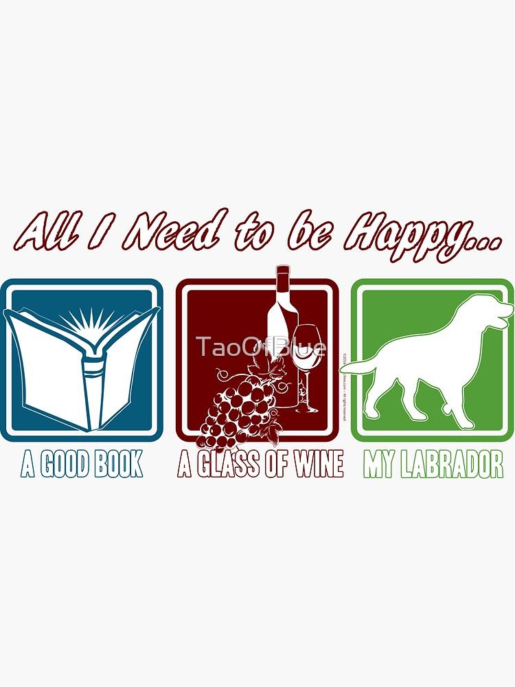 Book, Wine, Labrador by TaoOfBlue