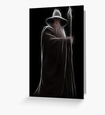 Neon Wizard Greeting Card