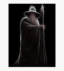 Neon Wizard Photographic Print