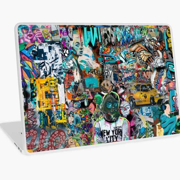 Ediemagic Graffiti Montage Laptop Skin