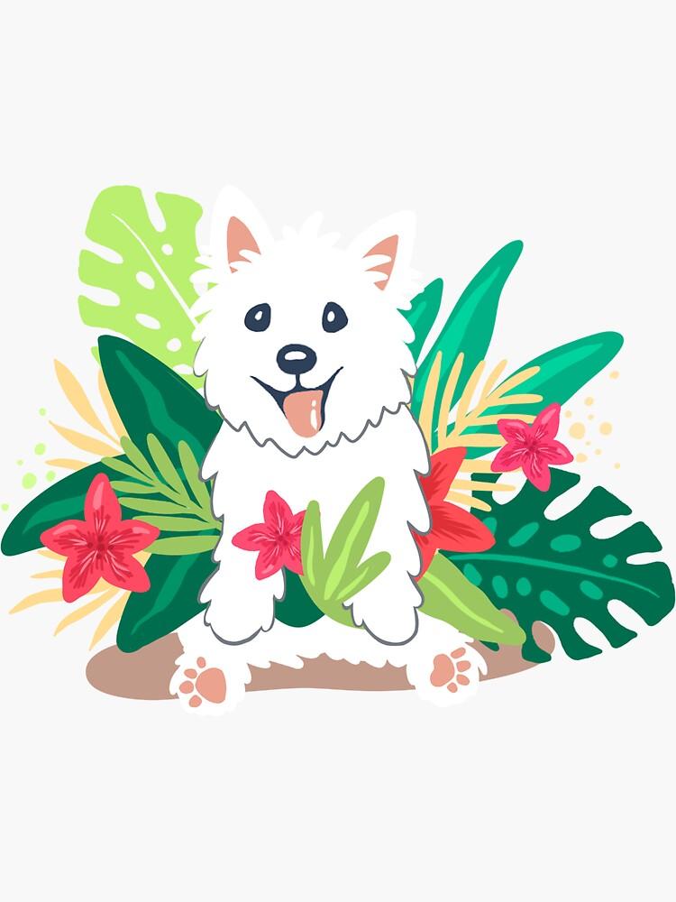 Westie dog Happy Spring by mirunasfia