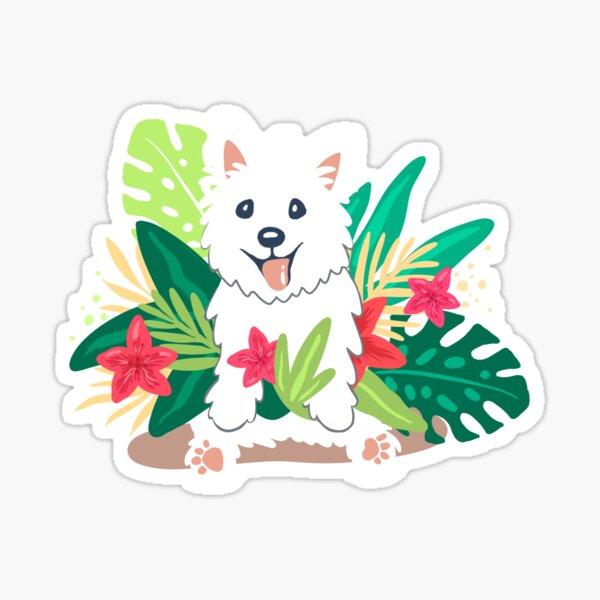 Westie dog Happy Spring Sticker