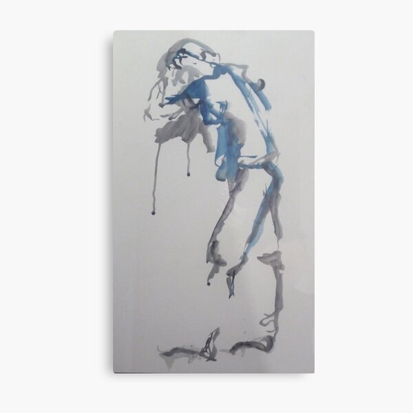 Art of Reflection Redux - Blue Series Metal Print