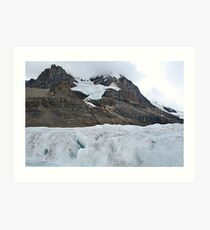 Getting up close and personal with a glacier Art Print