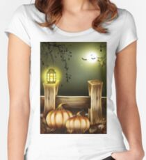 Halloween Fright Women's Fitted Scoop T-Shirt