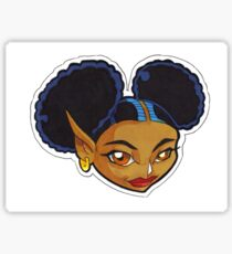 KINFfolkes-AFRO PUFF fairy Sticker