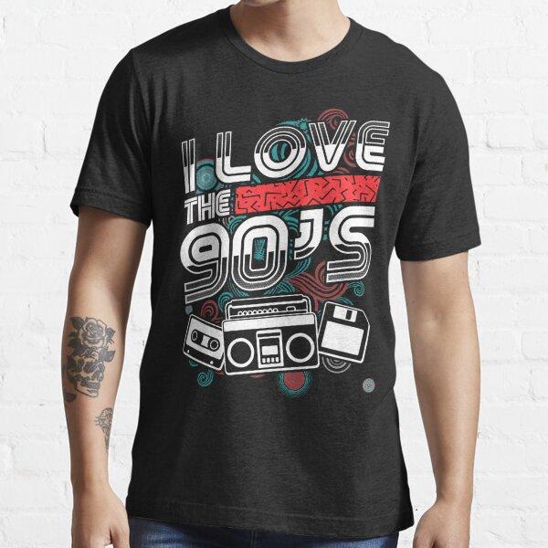 I Love The 90/'s Retro Iron On T-Shirt Transfer Party Heart 1990s 90s Nineties !!
