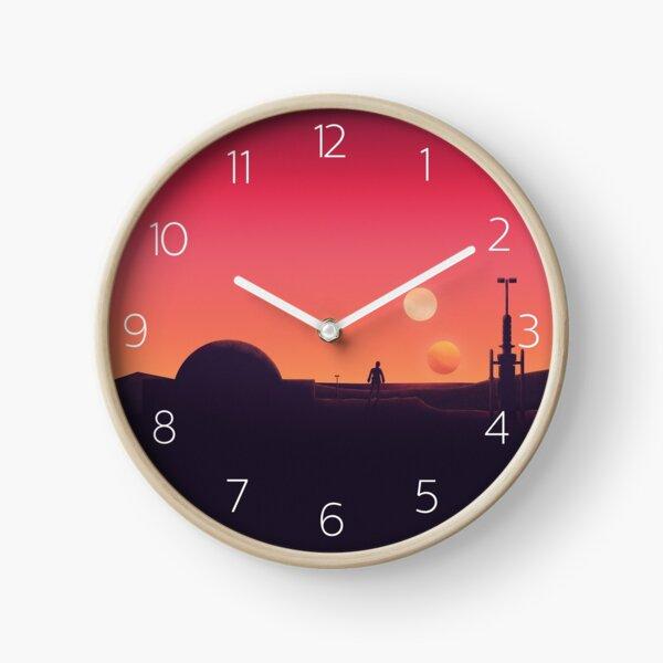 Binary Sunset Clock