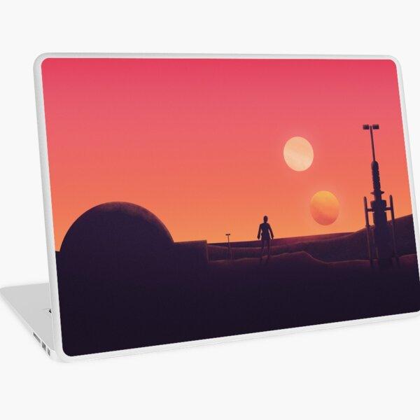 Binary Sunset Laptop Skin
