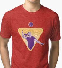 Volleyball Player Serve Ball Side Indoor Tri-blend T-Shirt