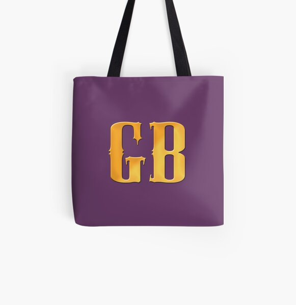 Gutterballs Monogram All Over Print Tote Bag