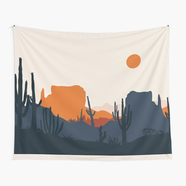 Cactus Mountain Tapestry
