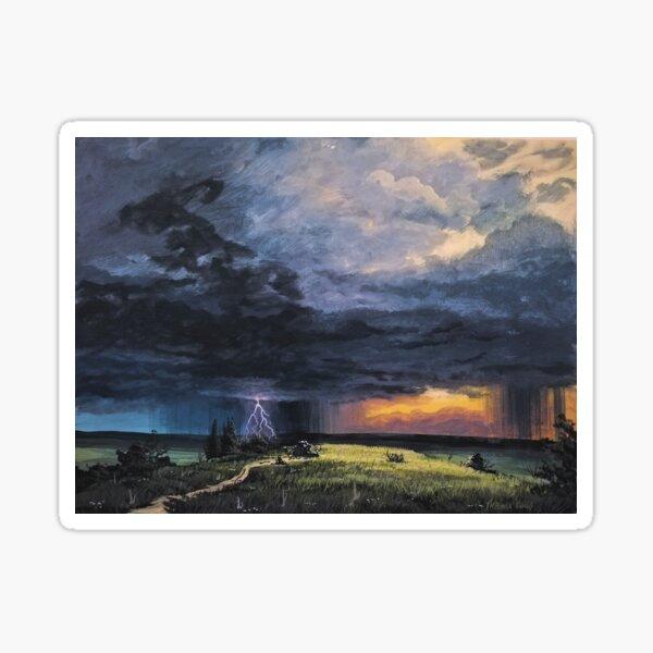 Storm on the horizon Sticker