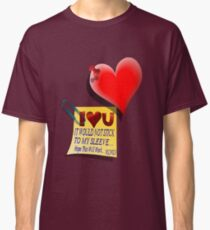 Valentine Heart and Love Note Classic T-Shirt