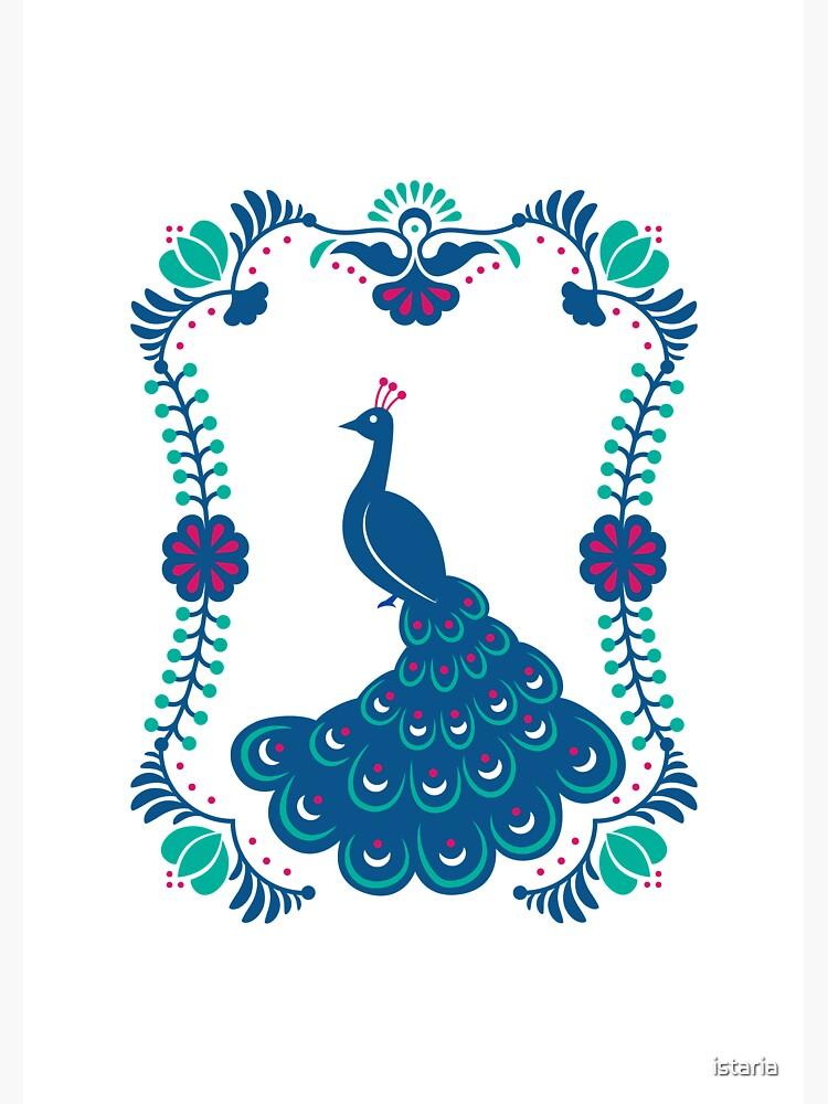 Folk Peafowl by istaria