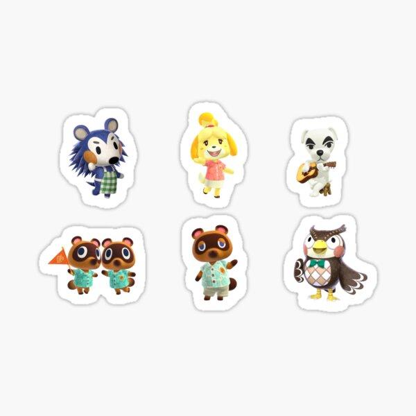 6 Sheet kawaii cartoon stickers animals small sticker for children diary de/_x TG