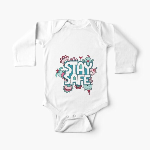 Stay Safe Long Sleeve Baby One-Piece