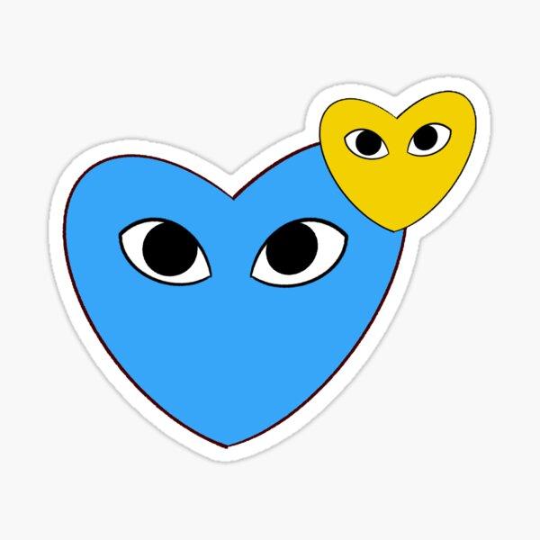 UCLA Hearts w/ Eyes Sticker