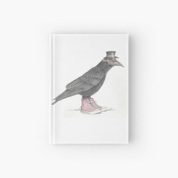Plague bird in pink high tops Hardcover Journal