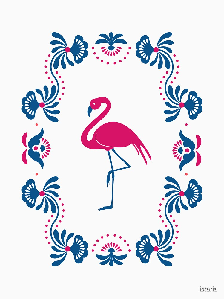Folk Flamingo by istaria