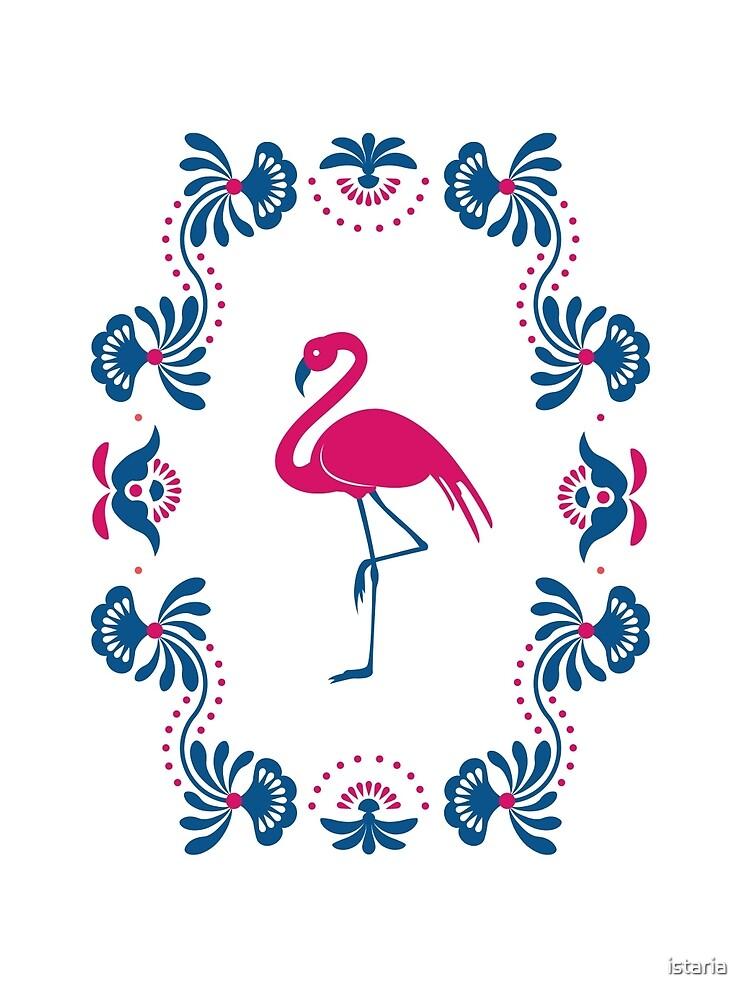 Folk Flamingo by istaria