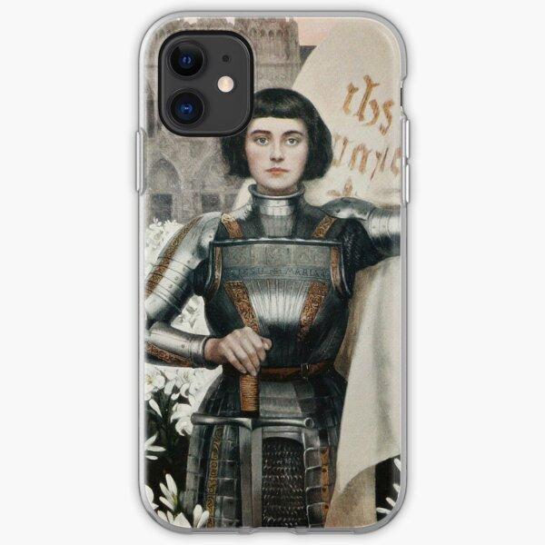 Une gravure de Jeanne d'Arc en 1903 Coque souple iPhone