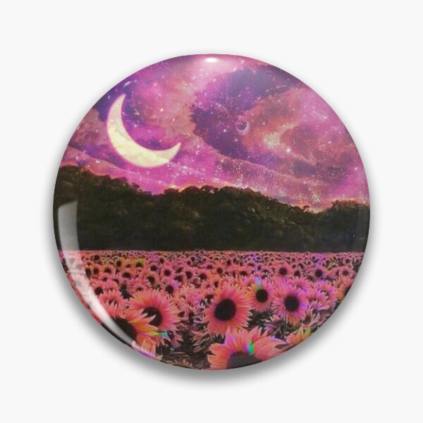 Psychedelic Sunflower Dream Pin