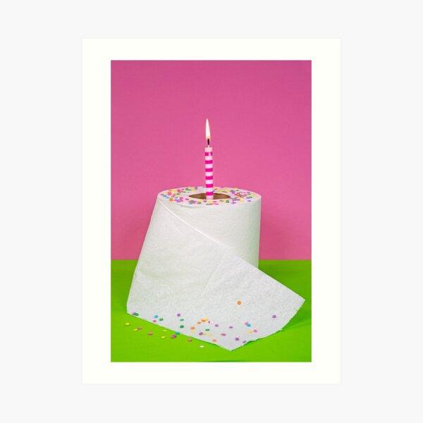 Birthday Paper Art Print
